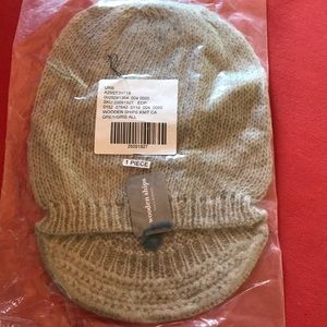 Wooden Ships Grey Knit Hat with Brim Brand New